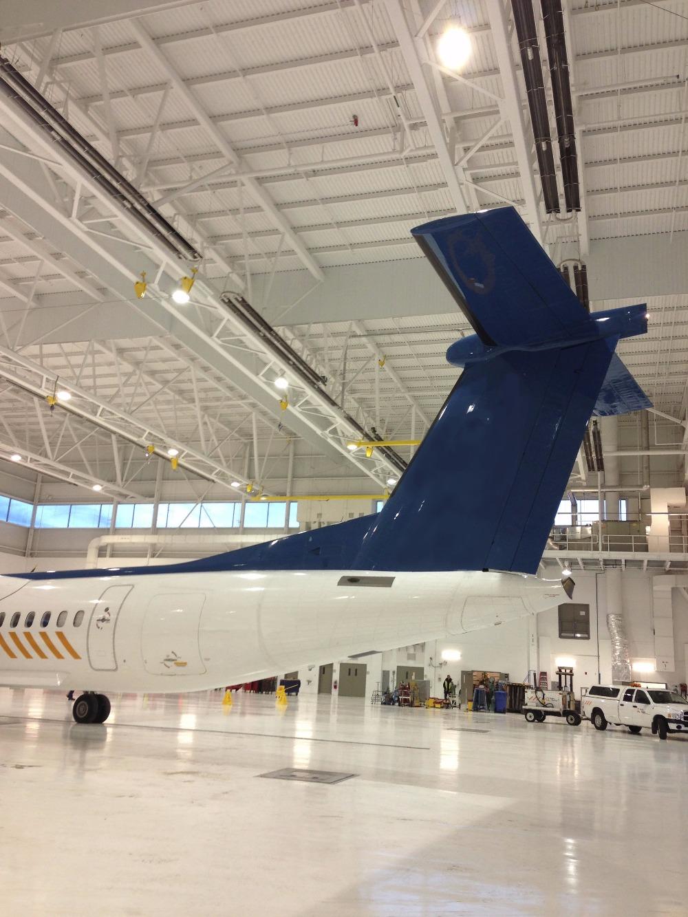 Airplane Hangar Heating | Tube Heaters Aircraft Hangar | Infrared Tube Heaters in Hangar