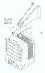 HVW-1 Wall Bracket for Chromalox HVH 5.0 kW Heater